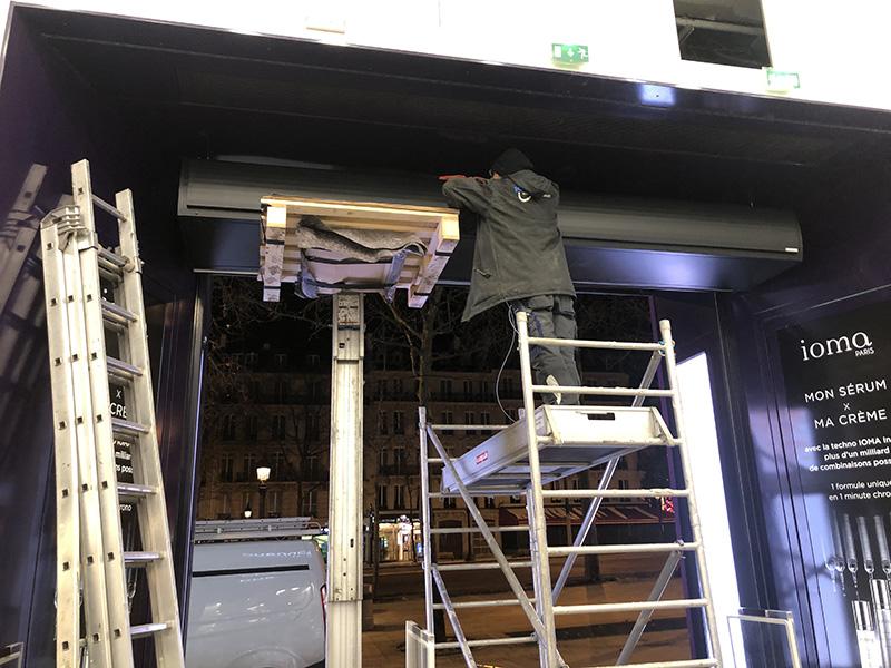 Installation du rideau d'air chaud avec Airkalia