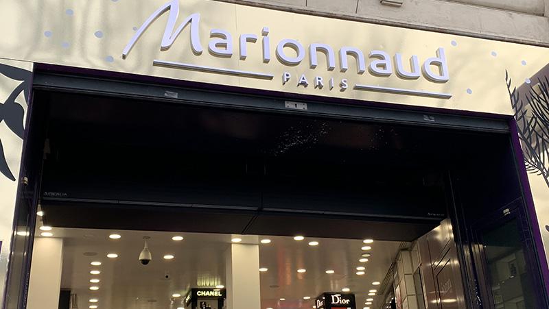 Climatisation de la boutique Marionnaud des Champs Elysés